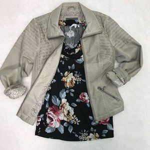 $79 Maurice's faux leather moto jacket 3x NWT